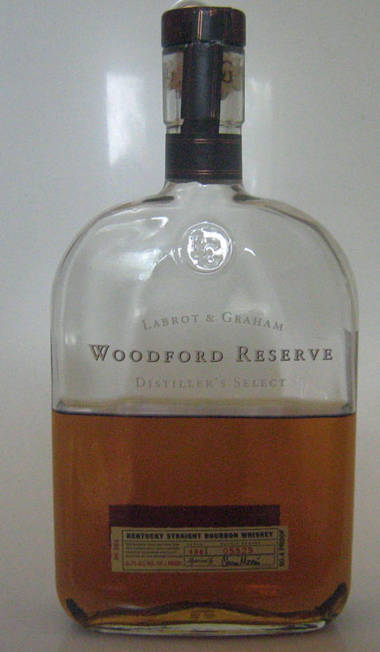 Bottle of Woodford Reserve Whiskey