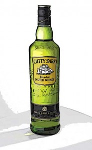 Cutty Sark whiskey