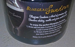 Bluegrass Sundown Instructions