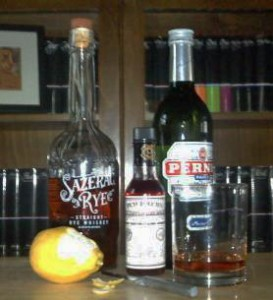 Sazerac cocktail ingredients
