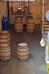 Dickel barrel filling station