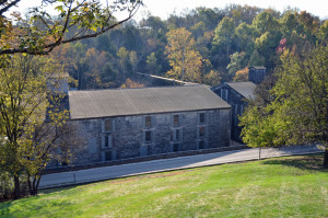 Woodford Reserve's fieldstone warehouses