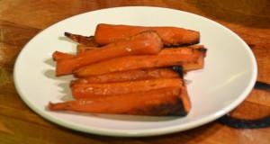 Bourbon glazed carrots