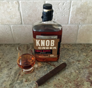 Knob Creek Single Barrel and a cigar