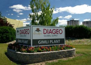 Diageo's Crown Royal plant in Alberta, Canada