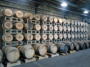 Greenbrier whiskey barrels