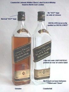 Counterfeit Johnnie Walker