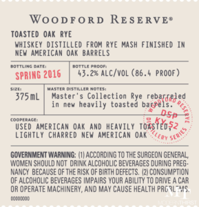 Woodford Toasted Oak Rye