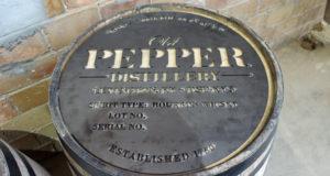 James E. Pepper Barrel Stencil