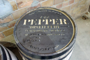 James E. Pepper Barrel Stencil